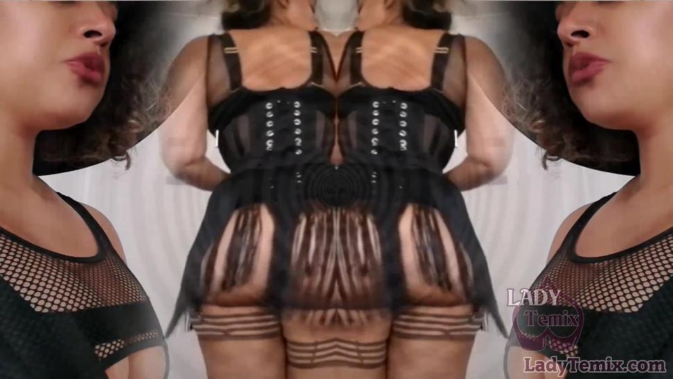 Hot fat ass Ebony Domme Hypno clip