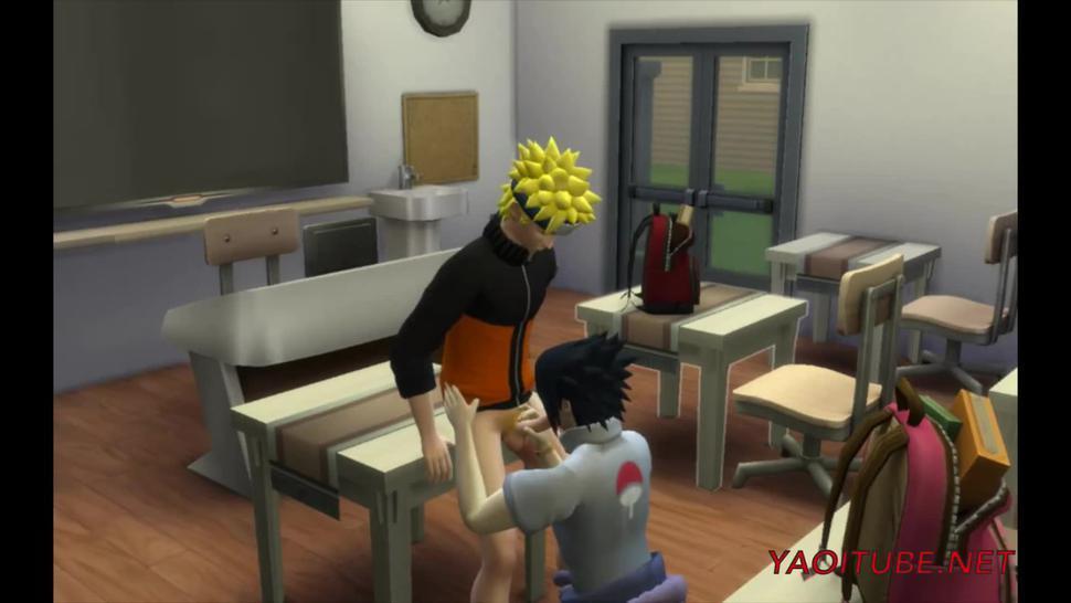Naruto Yaoi - Naruto Fucks and cums inside Sasuke in Classroom