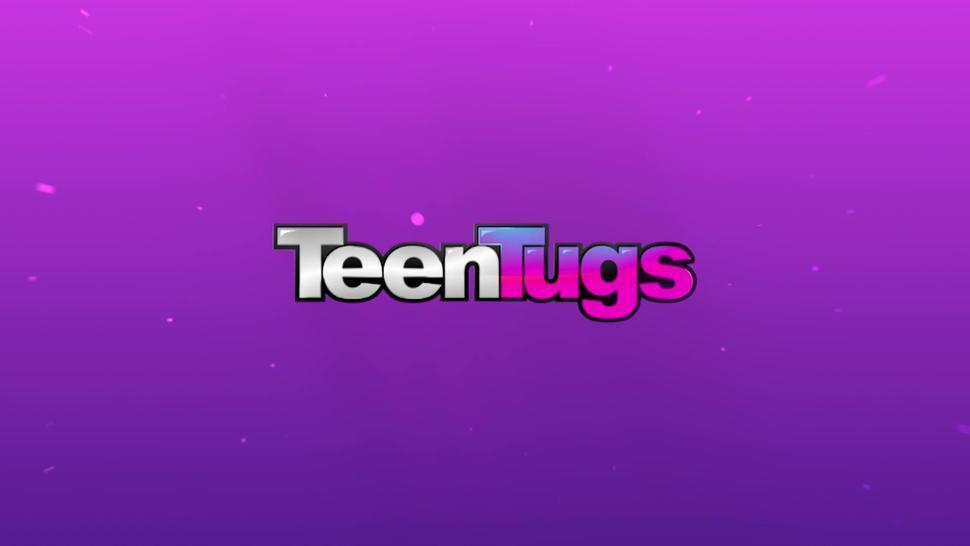 TEEN TUGJOBS - Redhead Teen Gives Tongue Job TeenTugs