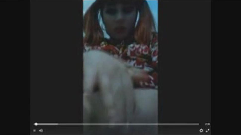 Brazilian goth girl masturbating