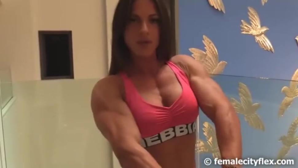 Unknown sexy fbb flexing. Who is she?