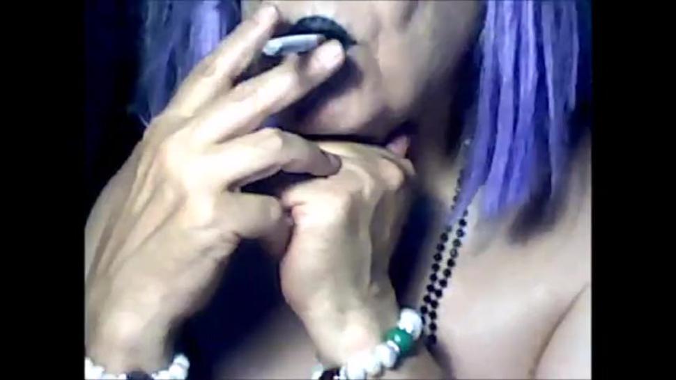Granny smoking cam