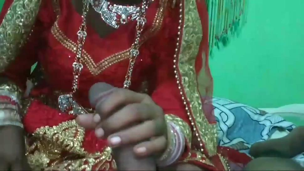 Hot Indian girl gives a blowjob before having sex