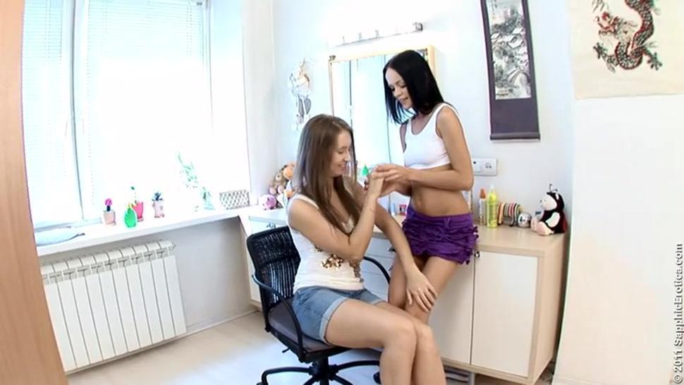 Angellina And Minerva Beautiful Lesbians
