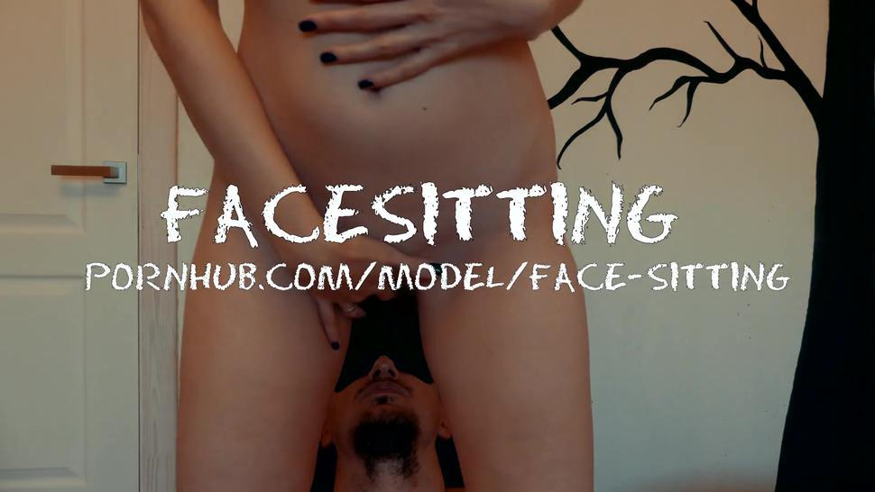 Mistress sitting on face and got three orgasms from cunnilingus, pussy eating face - Facesitting
