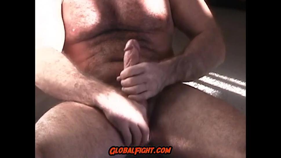 Hairy Muscle Man Jackingoff Hairy Dick Balls Bedroom