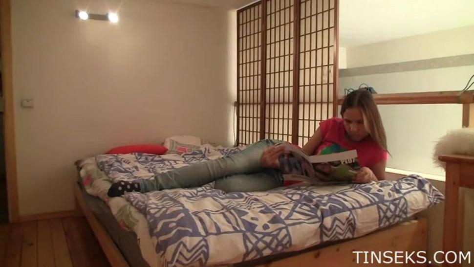 Sensual Moments In Bedroom Of Teen Couple