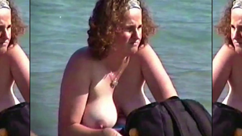 Chubby Ina Topless By The Lake