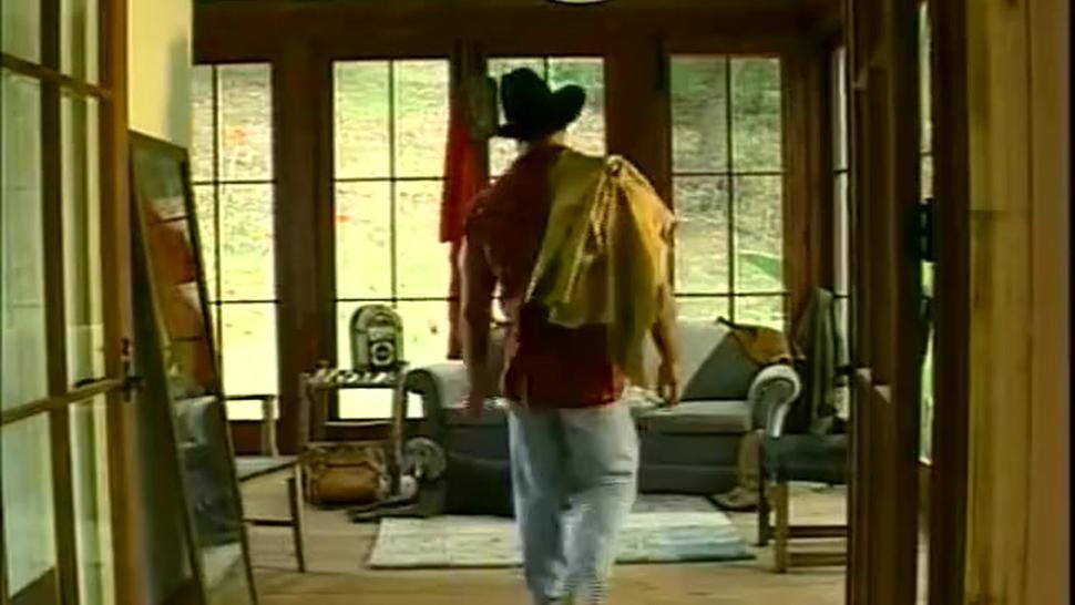 Sexy cowboy daddy Carl Hardwick jerk and cum