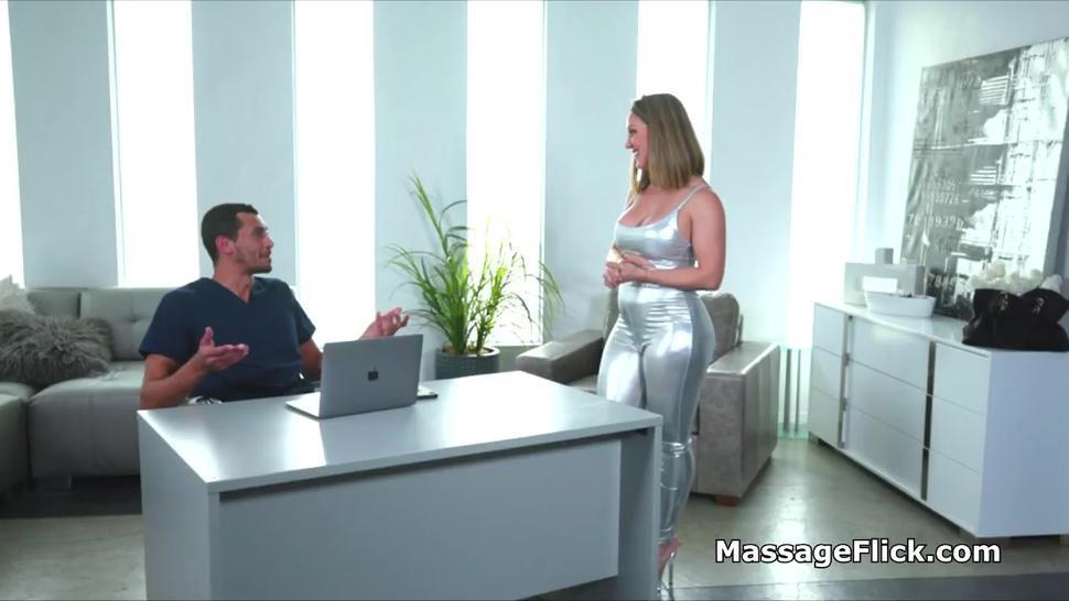 Bolster anal massage for Spanish MILF