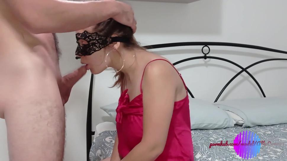 Ally shy, gives a blowjob...doggy style in pussy and creampie in the ass