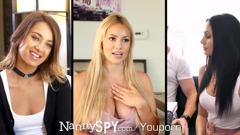 NannySpy Dad fucks nanny Ariana Marie after caught fucking son