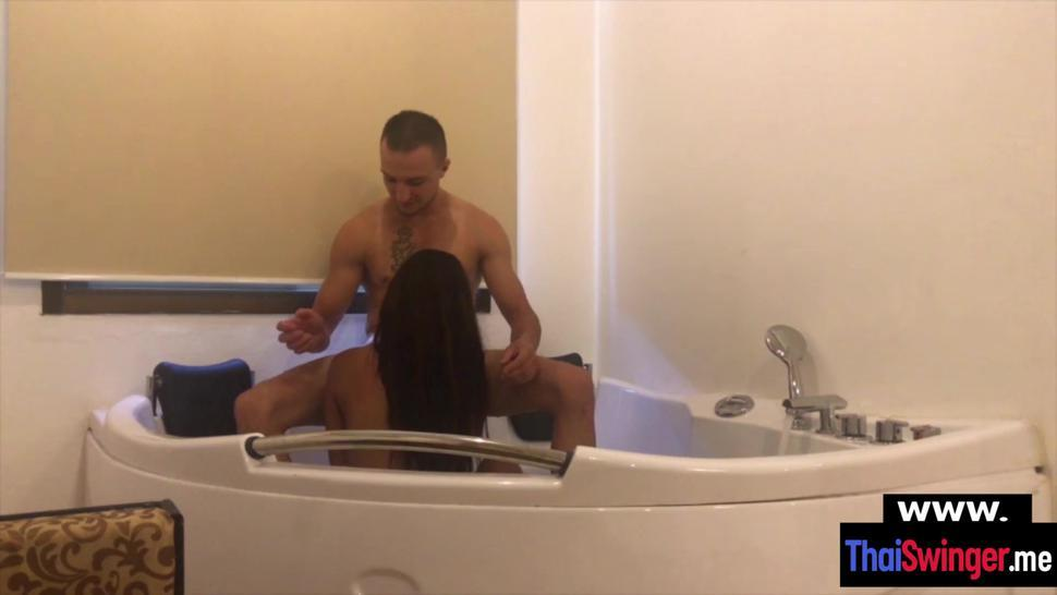 Cute Thai teenie chick Amy Lee wanted a quickie fuck in a jacuzzi
