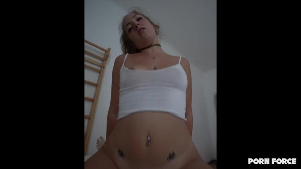 MASSIVE 3 Weeks Load Gets Her Pregnant - Risky Raw Sex Leads to Huge DRIPPING CREAMPIE