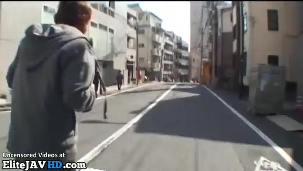 Japanese Random College Girl Accepts To Screw