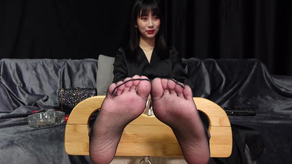 Chinese girl feet tickled