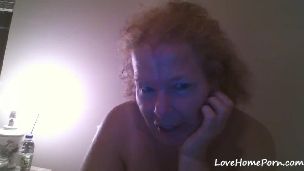 Old horny grandma drills her mature honeypot with a sex toy