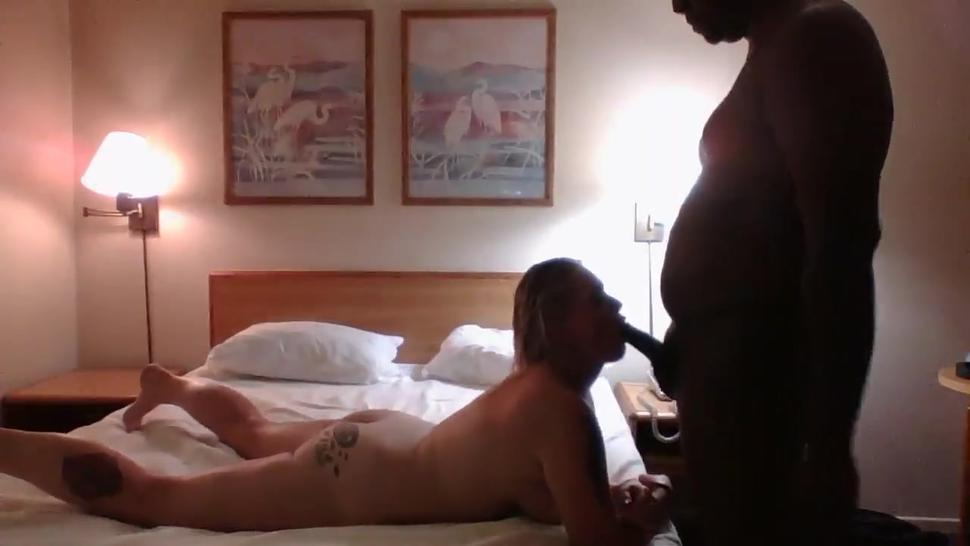 Thick white girl shows off her BBC cock skills