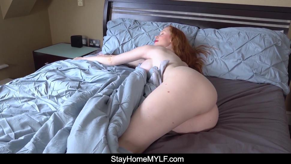 Milky Skinned Redhead MILF Enjoys Staying Home But Is Horny So She Blows and Fucks Ex from your POV