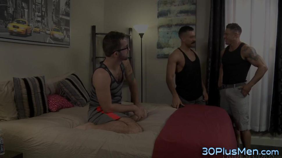 Gay hunk plowing ass and sucking