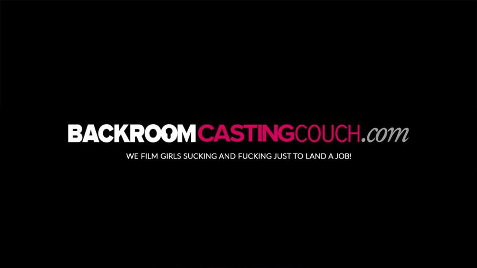 BACKROOM CASTING COUCH - Babe Brittany fucking big cock at creampie casting