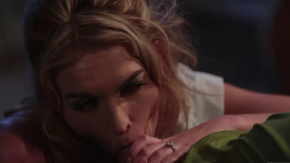 Keira Nicole suking a cock of Peter Pan and getting loads of cum on her vagina