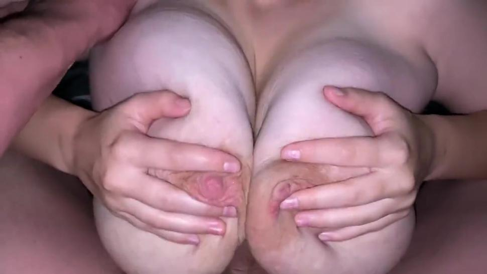 Cute big tit girl gets tit fucked by big cock