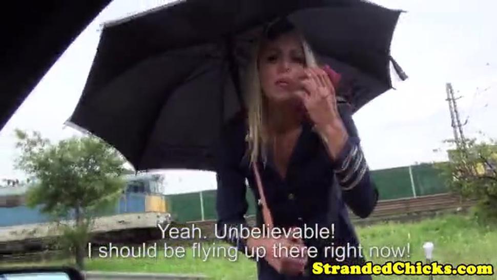 Stranded Hungarian Teen Stewardess In Uniform - Christen Courtney