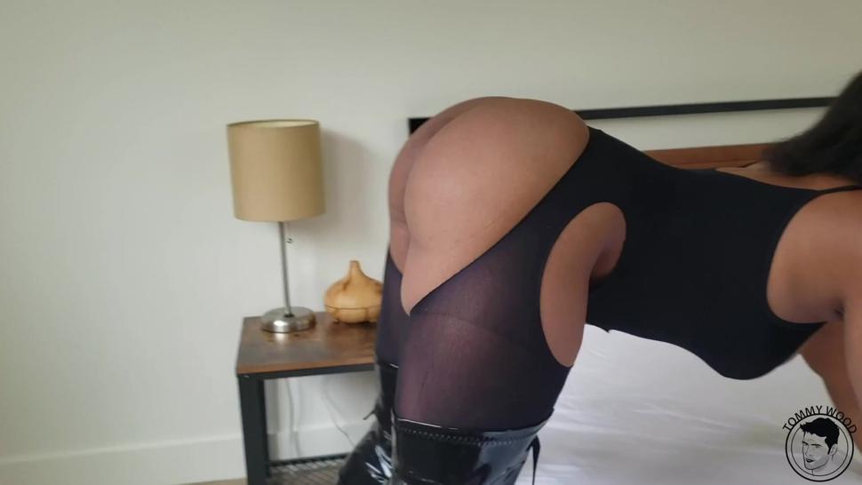 Ball gag ebony slut with big ass getting hard sex Avery Jane