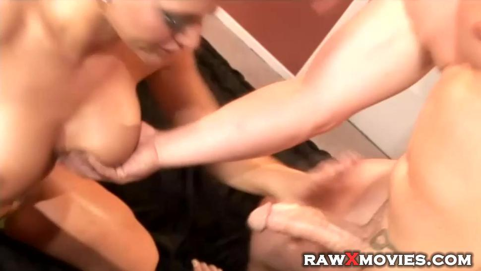 Beautiful slut with humongous breasts gets plowed