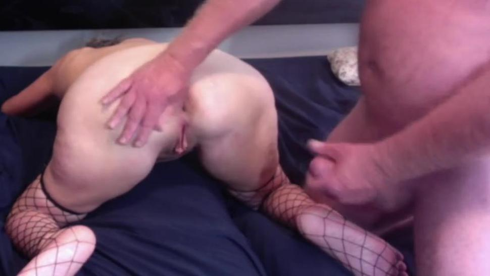 Horny Granny Gets Fucked Doggy Style Husband Pulls Out And Cums On Her Ass