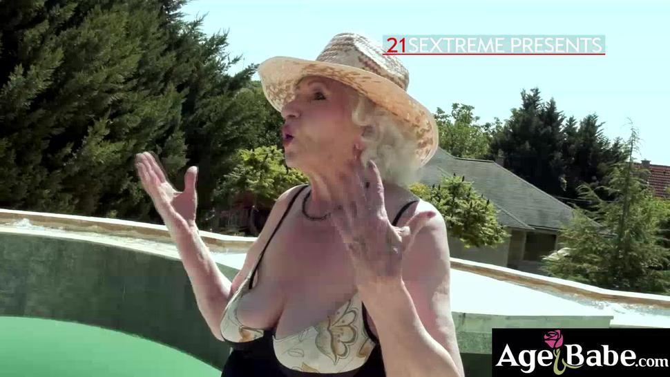 80 years old Norma B is still a dive when it comes to sex