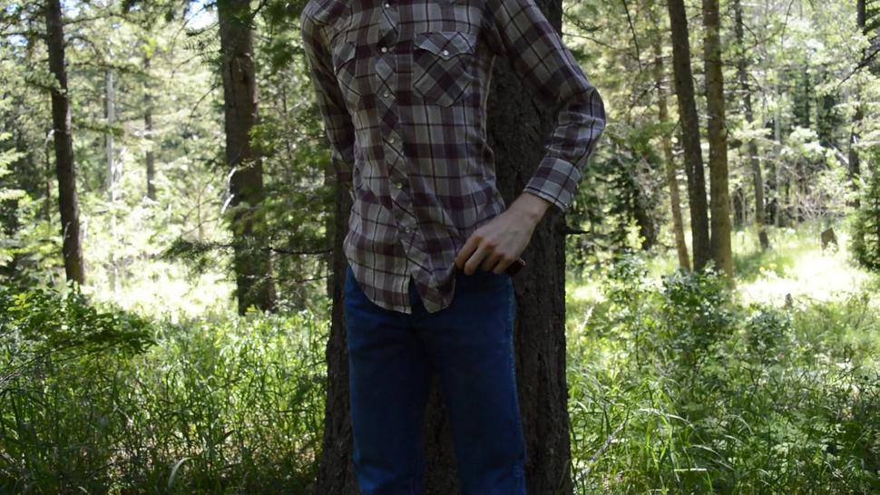 Hung Country Boy Secretly Jacks Off in the Woods Shooting Huge Load Hoping He Wont Get Caught
