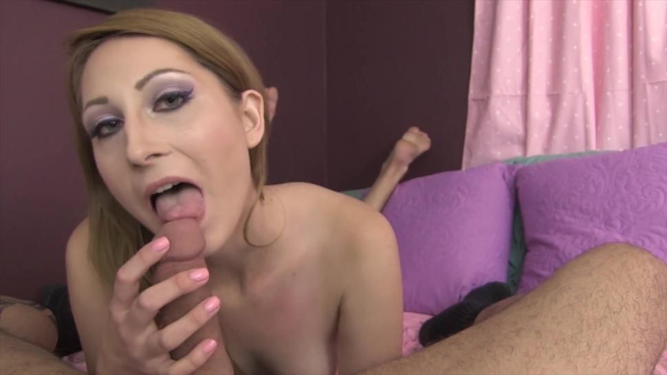 Sexy Red Head Teases & Edges Big Dick - Takes Huge Load In Mouth