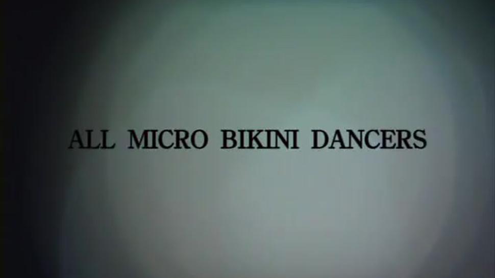 Micro bikini dancing ladies