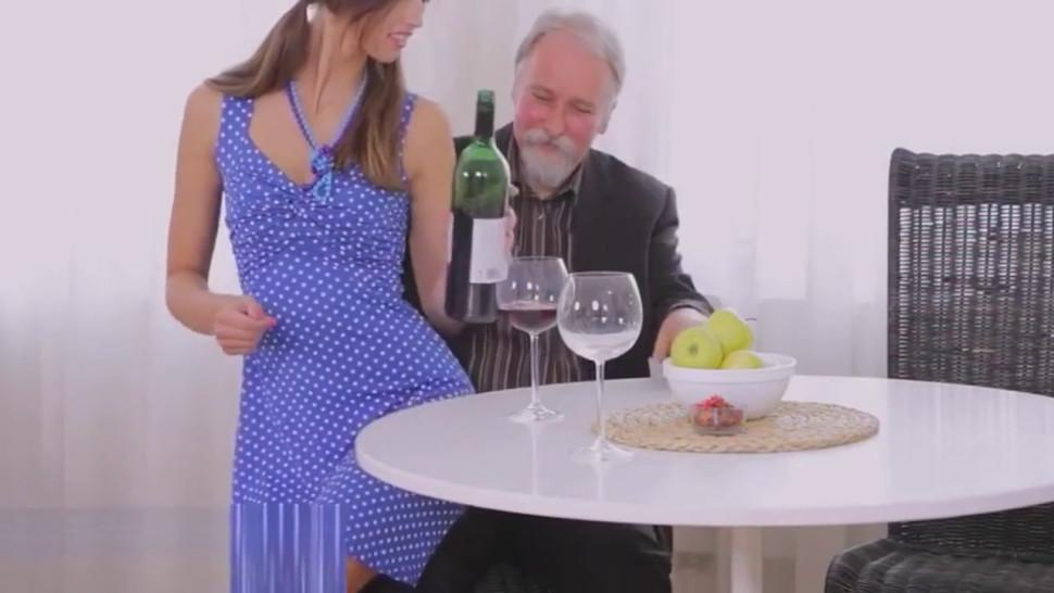 Juvenile girl licked by an old guy
