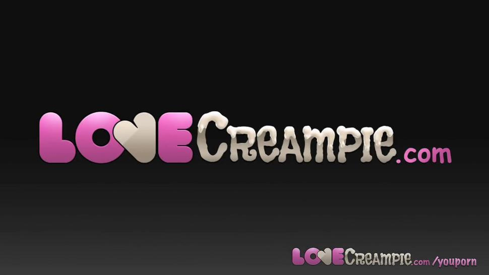 Love Creampie Deep cum load gift for lovely UK amateur in porn casting
