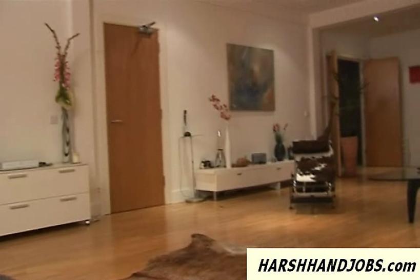 HARSH HANDJOBS - Mistress Jordan gives cfnm handjob