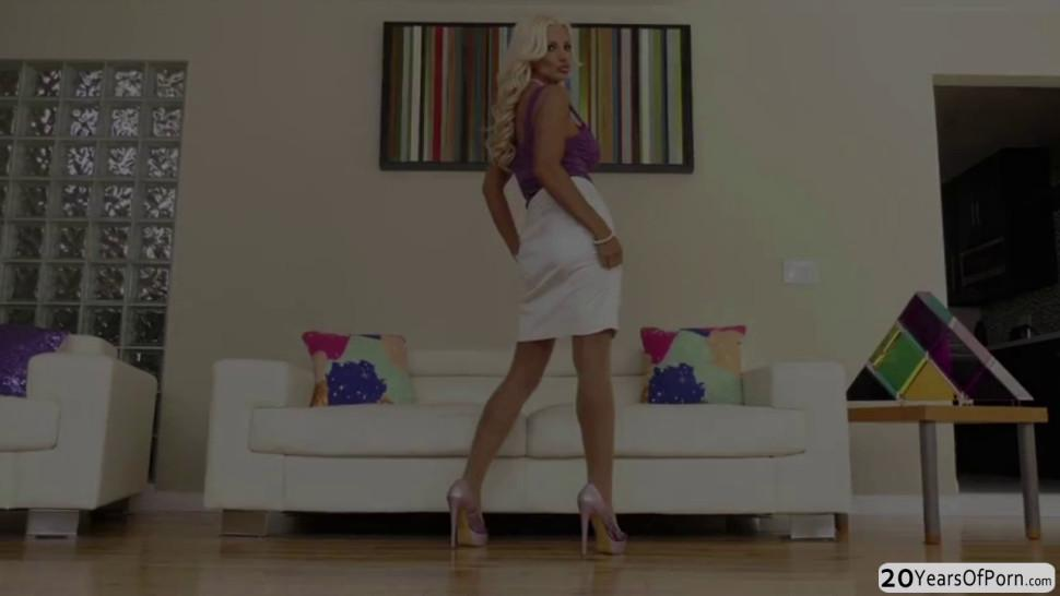 MILF Brittany Andrews enjoys sucking and riding Mark Wood and Jake Adams cock