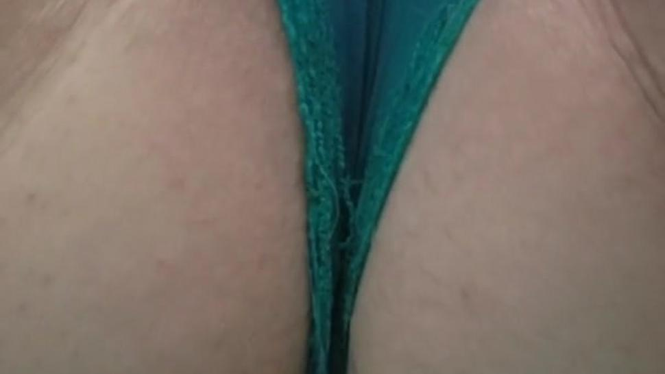 Fertile chubby white wife squirting thru panties (please comment)
