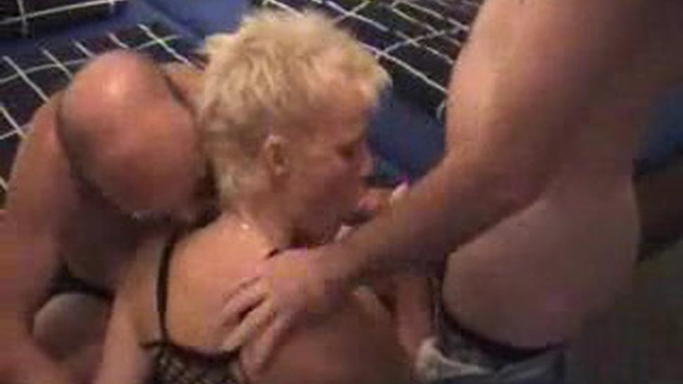 German Amateur Slut - Sandwich Sex
