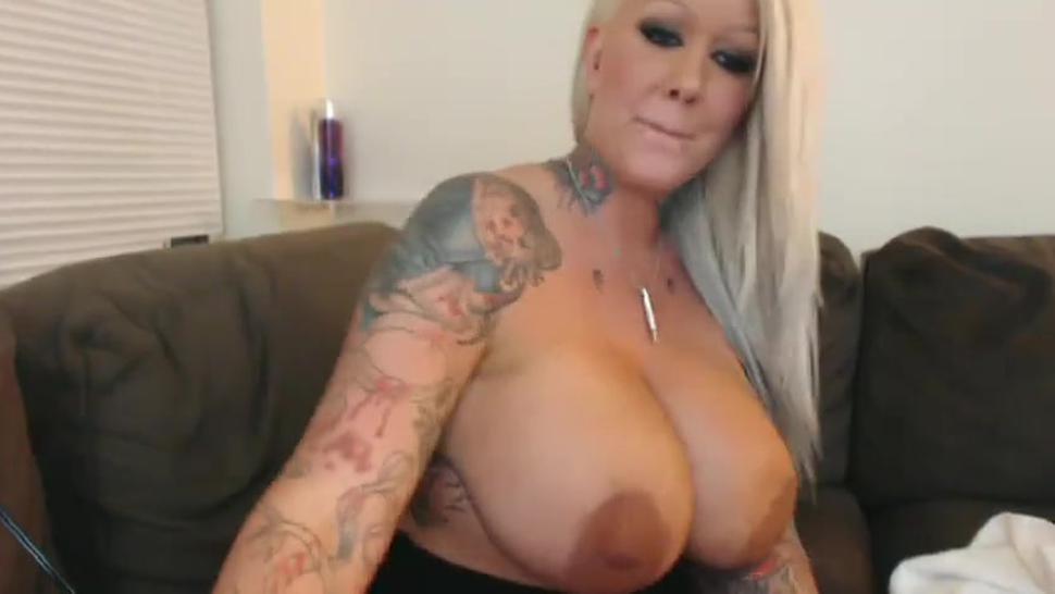 Feet/tattooed busty dangling blonde