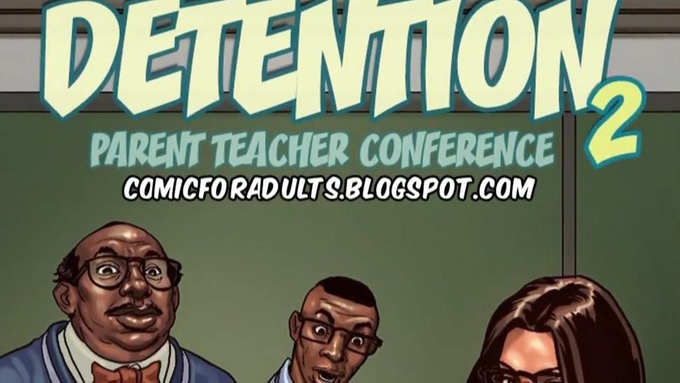 Black dad and his stepson screw the hot latina teacher in interracial threesome : Detention vol 2