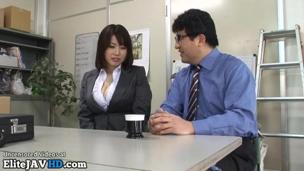 Busty lady in uniform gets boobs fucked