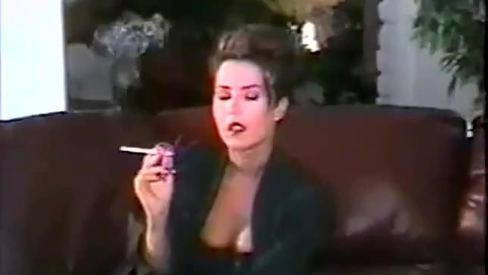 Brunette/classic/karii smoking classic sexy smoker