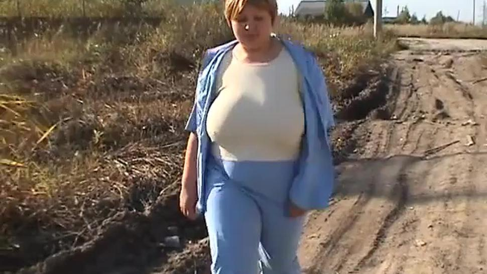 Blonde mature with big natural boobs