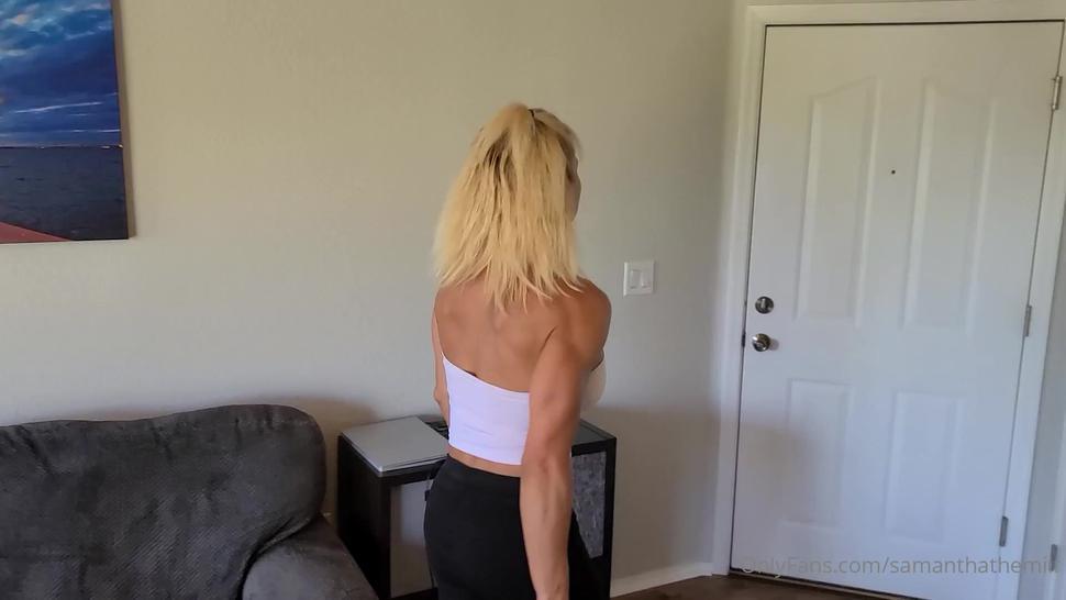 Muscle milf onlyfans.com/tifftuffstuff