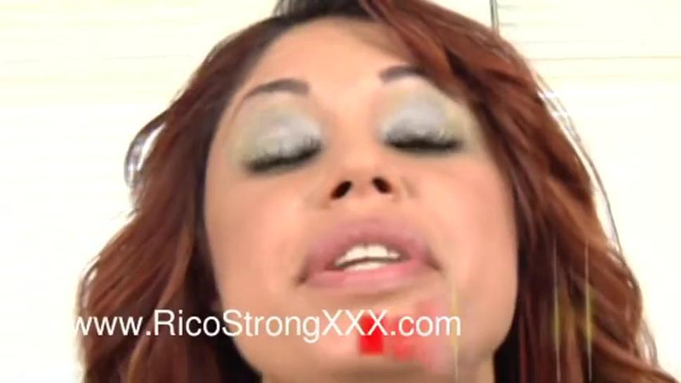 Big Tit Puerto Rican fucks big cock