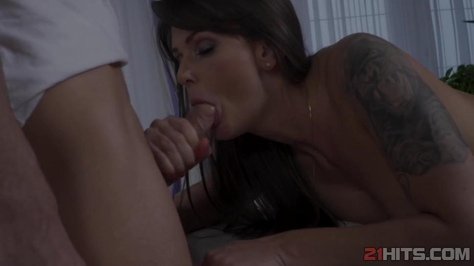 Mom massage turns into hardcore anal sex