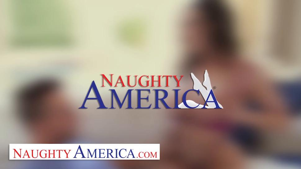 Naughty America Big tit blonde pornstar Casca Akashova takes care of clients sexual needs